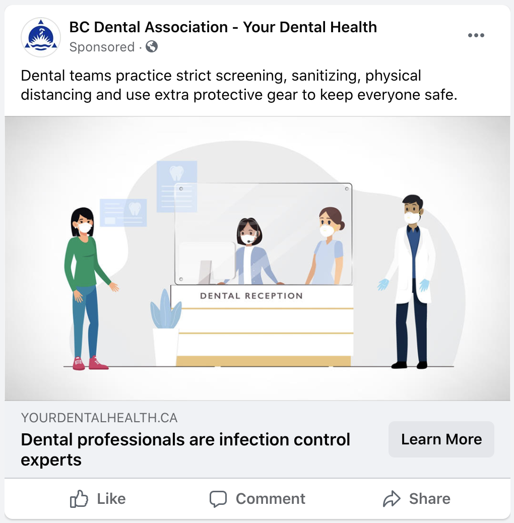 "Sprint 2021 Digital Ad ""Dental Professionals are Infection Control Experts"""
